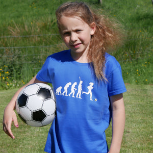 Evolution of Football Girls T-Shirt - Scarf Monkey