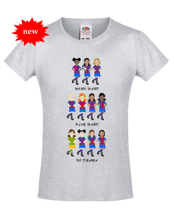 Girls' Football Team T-Shirt 'No Drama' - Scarf Monkey