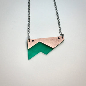 Riveted shard necklace