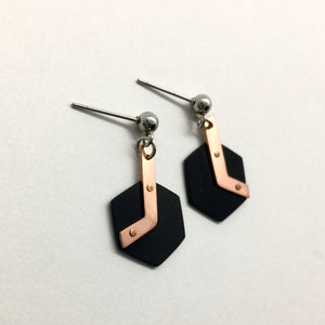 Black copper hexagons