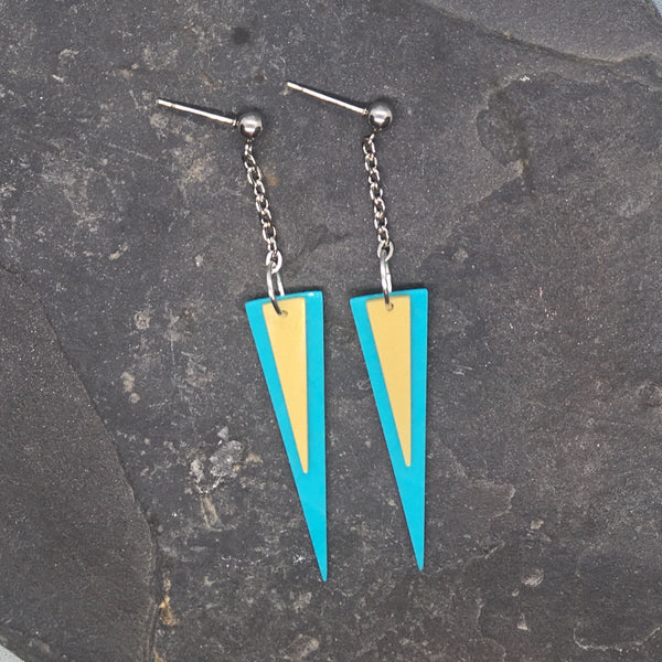 Stacked triangle earrings