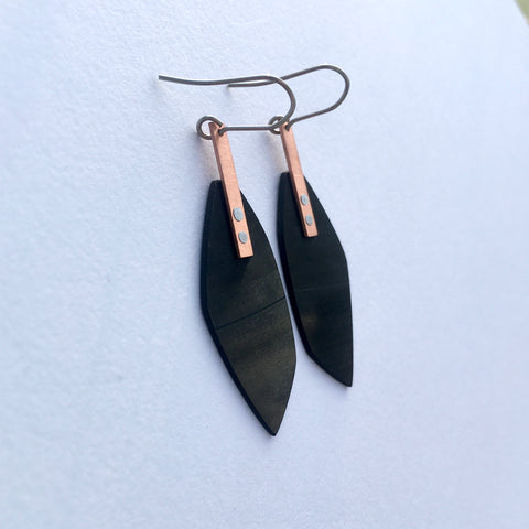 Black copper earrings