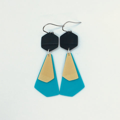 Large 3-colour earrings