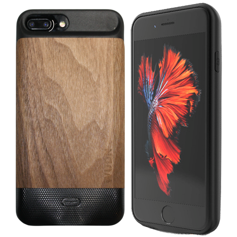WUDN Flex - Wooden iPhone 6, 7, 8 Plus, Battery Charging Case