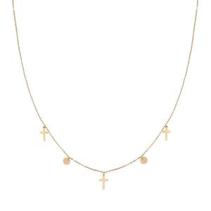 "Kette ""Coins and Crosses"""