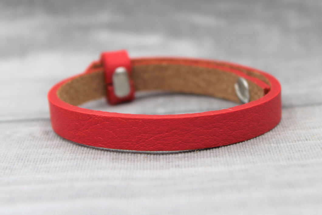 Armband, einfach, rot