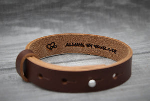 "Männer Lederarmband, ""ALWAYS BY YOUR SIDE"""