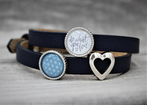 Armband, dunkelblau, Blume des Lebens, Do what you love - SchmuckWert