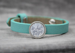 Armband, türkis, Do what you love - SchmuckWert
