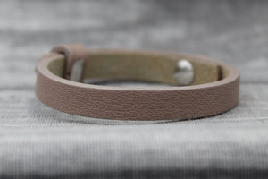 Armband, einfach, taupe