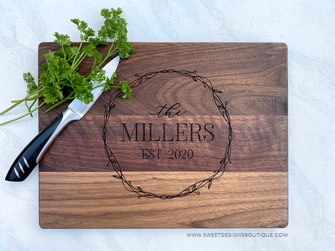 WALNUT CUTTING BOARD 9X12