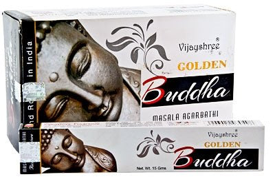 Golden Buddha Incense Sticks 15gms - 12 Packs
