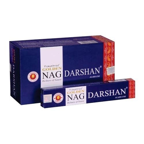 Golden Nag Darshan Incense Sticks 15gms - 12 Packs
