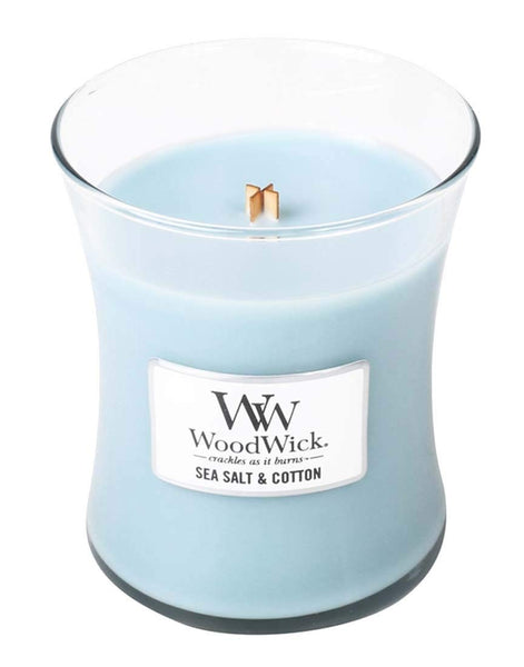 WoodWick Sea Salt and Cotton Medium Jar Candle