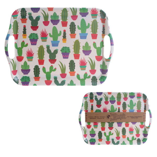 Bambootique Eco Friendly Cactus Design Tray
