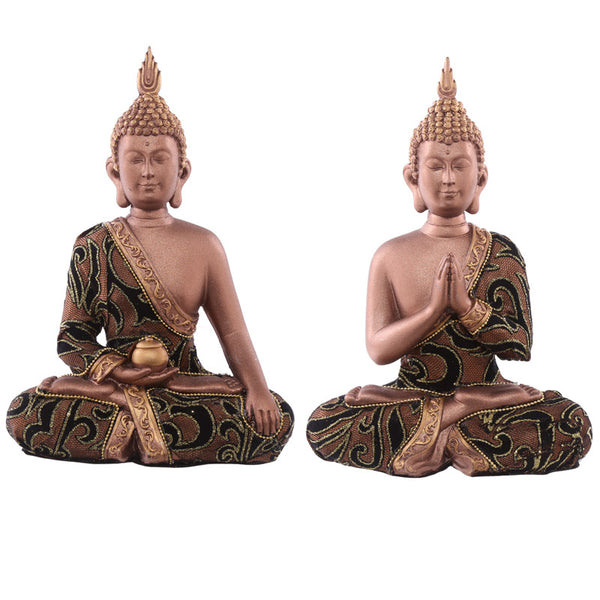 Decorative Fabric Effect Thai Buddha Sitting Medium