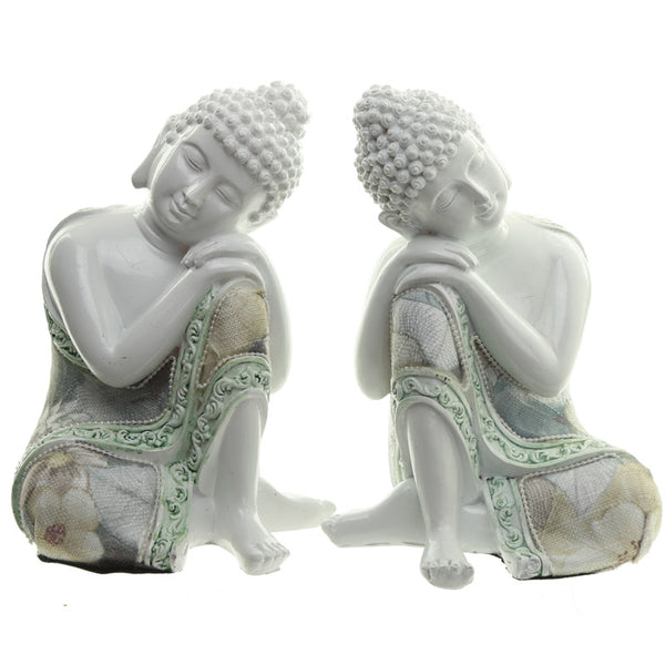 Decorative Floral Thai Buddha Contemplation Figurine