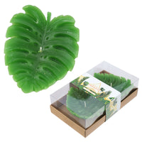 Fun Mini Candles - Tropical Banana Leaf Set of 2 Tea Lights