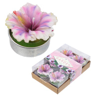 Fun Mini Candles - Tropical Orchid Flower Set of 6 Tea Lights
