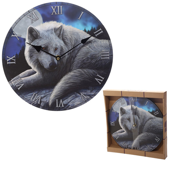 Guardian Wolf Design Decorative Wall Clock