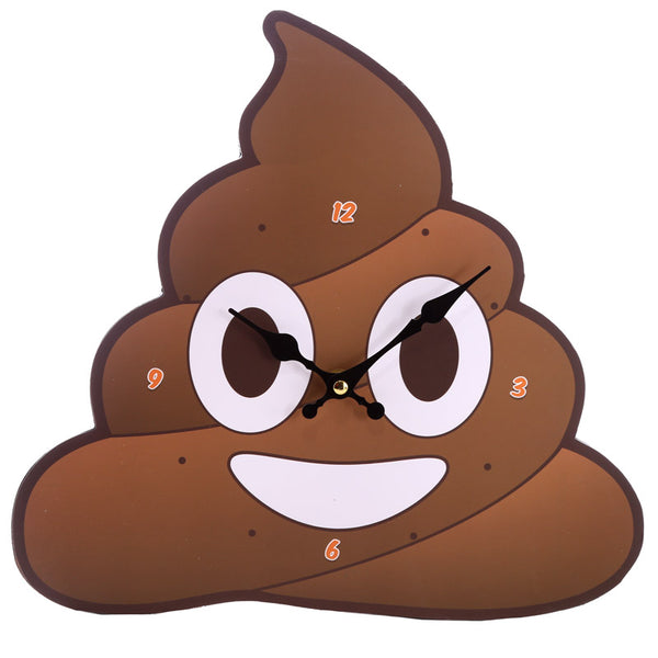 Decorative Emotive Poop Wall Clock