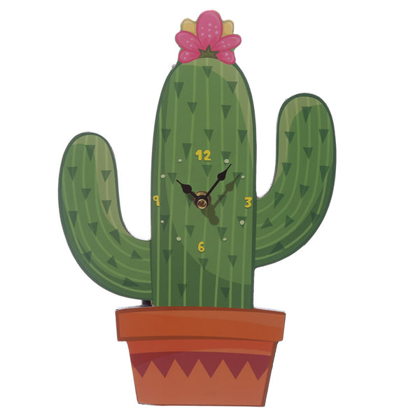 Fun Cactus Design Decorative Wall Clock