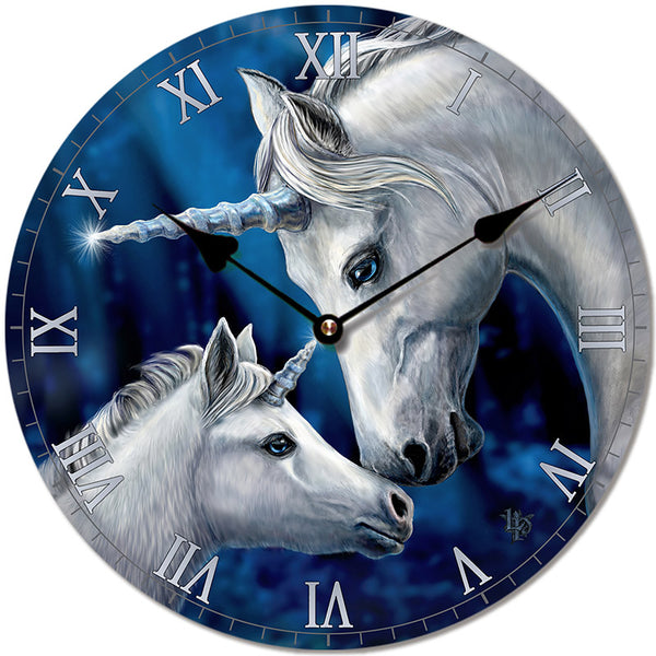 Decorative Fantasy Sacred Love Unicorn Wall Clock
