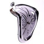 Silver Framed Novelty Melting Shelf Clock