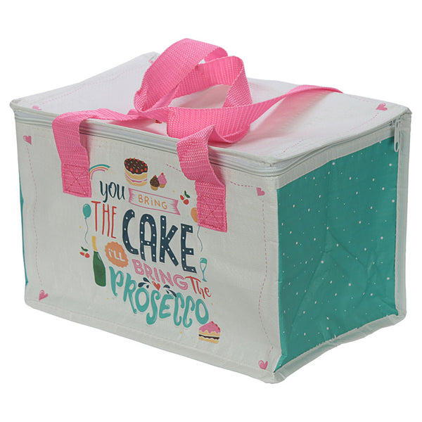 Prosecco Slogan Lunch Box Picnic Cool Bag