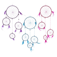 Decorative Feather and Bead Dreamcatcher 62cm