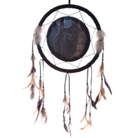 Decorative Magical Cat and Broomstick 33cm Dreamcatcher