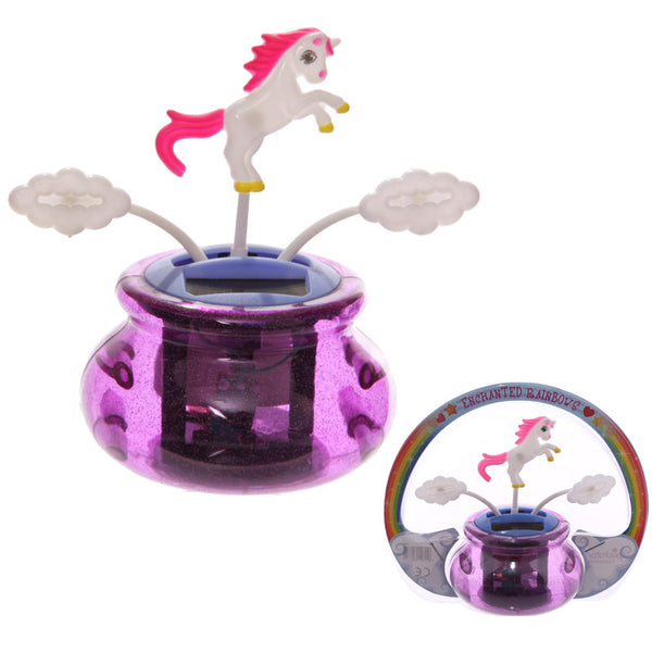 Fun Unicorn Solar Powered Novelty Pal