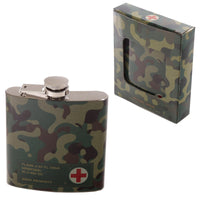 Fun Camouflage Stainless Steel Hip Flask - 6oz