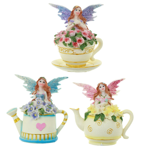 Collectable Flower Fairy Figurine - Time for Tea