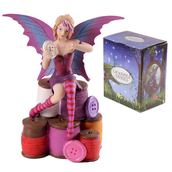 Enchanted Fairies Figurine - Buttons