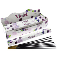 Stamford Hex Incense Sticks - Violet