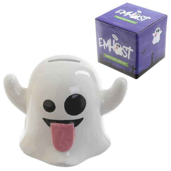 Fun Ceramic Ghost Emotive Money Box