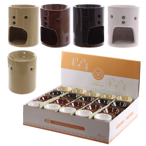 Simple Coloured Straight Design Ceramic Oil Burner
