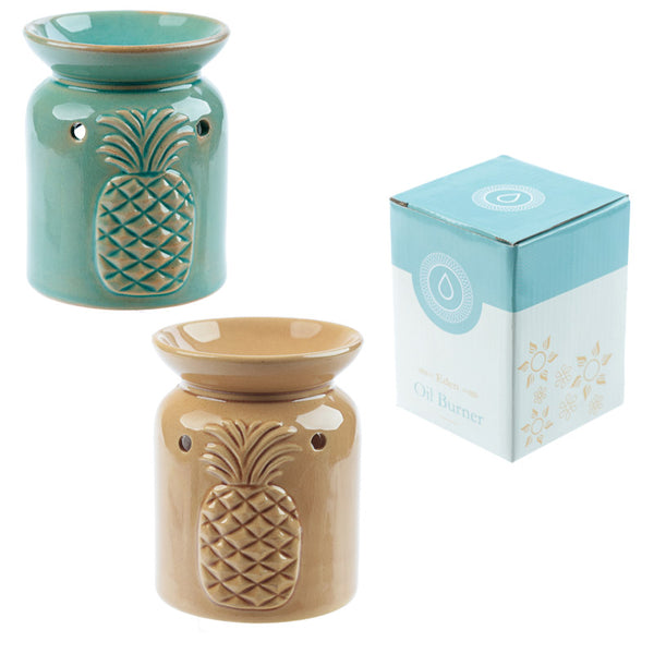 Eden Aroma Set - Ceramic Pineapple Oil Burner
