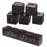 Set of 5 Black Skull Dice
