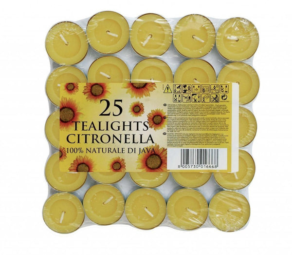 Citronella Tea Lights (Set of 25)