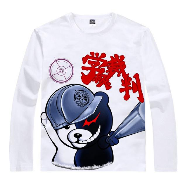 Long Sleeve Shirt - Danganronpa Long Sleeve Shirt ダンガンロンパ Monokuma With Hope's Peak Hat