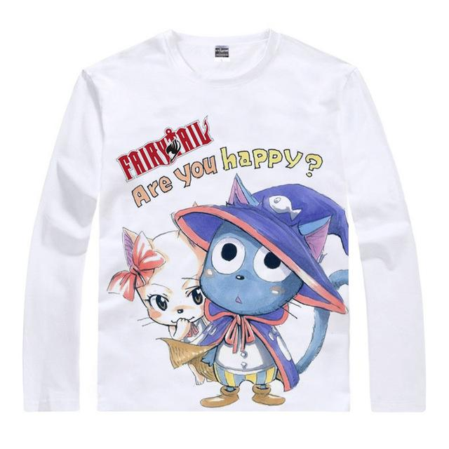 "Long Sleeve Shirt - Fairy Tail Long Sleeve Shirt フェアリーテイル ""Are You Happy?"""