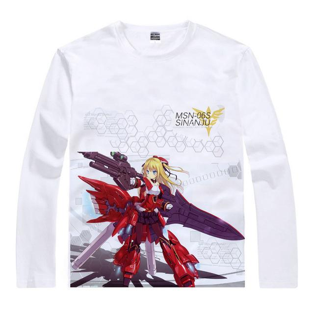 Long Sleeve Shirt - Gundam Long Sleeve Shirt ガンダム MSN-06S Sinanju Girl