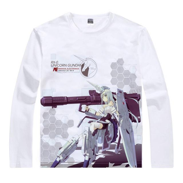 Long Sleeve Shirt - Gundam Long Sleeve Shirt ガンダム RX-0 Unicorn Girl