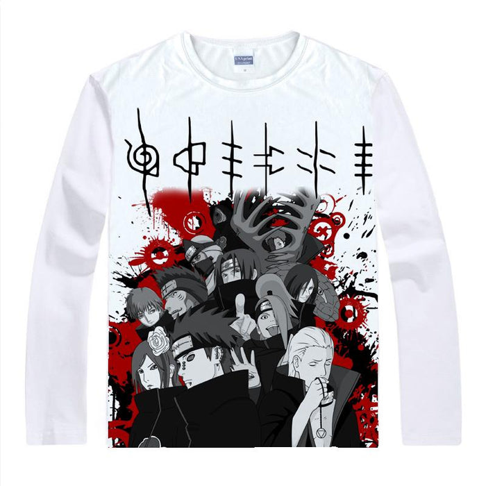 Long Sleeve Shirt - Naruto Long Sleeve Shirt ナルト The Akatsuki