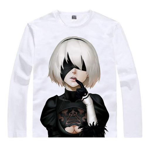 Long Sleeve Shirt - Nier Automata Long Sleeve Shirt ニーア オートマタ Shy 2B
