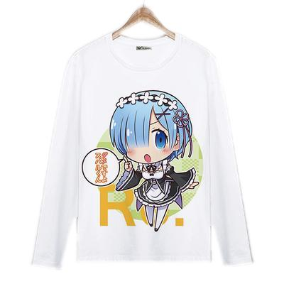 Long Sleeve Shirt - Re:Zero Long Sleeve Shirt ゼロから Kodomomuke Rem
