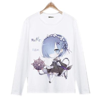 Long Sleeve Shirt - Re:Zero Long Sleeve Shirt ゼロから Rem With Morningstar