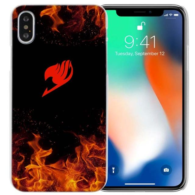 Phone Case - Red Guild Emblem In Flames Fairy Tail IPhone Case フェアリーテイル Apple IPhones